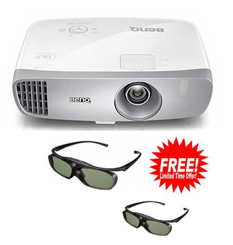 BENQ W1110 FULL HD 3D WIRELESS HOME PROJECTOR Plus 2 X 3D Glasses
